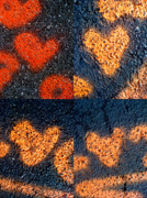 Grid Of Heart Photos Digital Art - Big Hearts Spray Paint by Boy Sees Hearts