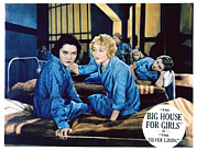 Lobbycard Photo Metal Prints - Big House For Girls Aka The Silver Metal Print by Everett