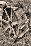 Metal Tires Framed Prints - Big Iron II Framed Print by JC Findley