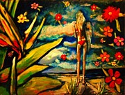 Surfer Girl Paintings - Big Island Surf by Kimberly Dawn Clayton