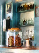 Blackboards Prints - Big Jar of Pretzels Print by Susan Savad