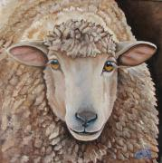 Lamb Paintings - Big Mama by Laura Carey
