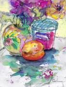 Pot Drawings Metal Prints - Big Marmalade Metal Print by Miki De Goodaboom