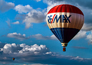 Great Falls Balloon Festival Framed Prints - Big Max RE MAX Framed Print by Bob Orsillo