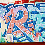 Grafitti Photos - Big Orange R by Carol Leigh