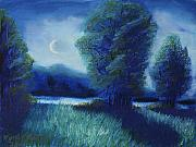 Rural Landscapes Pastels - Big Otter Creek - Midnight by Wynn Creasy
