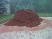 Orchard Trail Prints - Big Pile of Mulch Time Print by LeeAnn McLaneGoetz McLaneGoetzStudioLLCcom