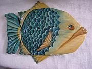 Numbered Reliefs - Big Pine Key- Wooden Florida Fish-SOLD by Lisa Ruggiero