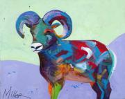 Bighorn Sheep Posters - Big Ram Poster by Tracy Miller