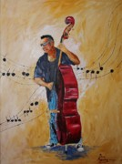 Bass Player Originals - Big Red Bass by Dave Manning