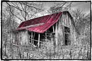 North Carolina Barn Posters - Big Red Poster by Debra and Dave Vanderlaan