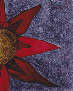 Kpappert Posters - Big Red Flower 2 Poster by Karen Pappert