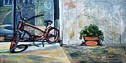Sausalito Art - Big Red Sausalito Cruiser by Colleen Proppe
