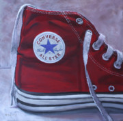 Converse Paintings - Big Red by Suzanne Berry