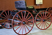 Cart Horse Photos - Big Red Wheels by Fraida Gutovich