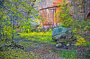 West Fork Digital Art Framed Prints - Big Rock Framed Print by Brian Lambert