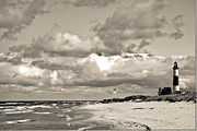 Dunes Prints - Big Sable Point Print by Bradley  Blackburn