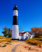 Point Park Posters - Big Sable Point Lighthouse Poster by Nick Zelinsky