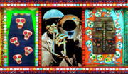 Funk Digital Art Prints - Big Sams Voodoo Print by Tammy Wetzel