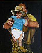 Family Art - Big Shoes to Fill by Joni McPherson