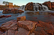 Bedrock Framed Prints - Big Sioux River Falls Framed Print by Dan Mihai