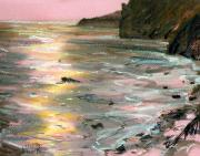 Coast Pastels - Big Sir Sunset by Donald Maier