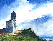 Lighthouses Paintings - Big Sky At Split Rock Lighthouse by William Beaupre