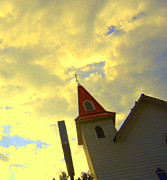 Diana Prickett Metal Prints - Big Sky Church Metal Print by Diana Prickett