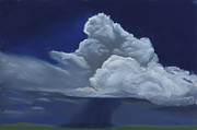 Thunderstorm Painting Framed Prints - Big Sky Framed Print by Garry McMichael
