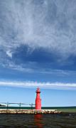 Big Sky Over Algoma Lighthouse Print by Mark J Seefeldt