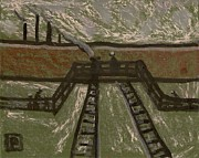 Postal Originals - Big sky over railway bridge by Peter  McPartlin