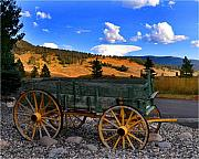 Montana Digital Art - Big Sky Wagon by Diane E Berry