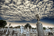 Headstones Framed Prints - Big Sky Framed Print by Wayne Sherriff