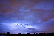 Lightning Weather Stock Images Framed Prints - Big sky with small lightning strikes in the distance. Framed Print by James Bo Insogna