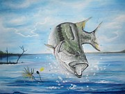 Largemouth Paintings - Big Spinner by Robert Ballance