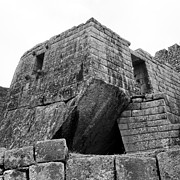 35mm Prints - Big Structure at Machu Picchu Print by Darcy Michaelchuk