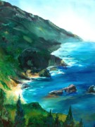 Cezanne Drawings Prints - Big Sur California Print by Eric  Schiabor