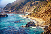 California Big Wave Surf Prints - Big Sur Coastline Print by Joe Josephs Photography