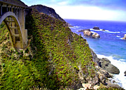 Bixby Bridge Metal Prints - Big Sur III Metal Print by Ellen Lacey