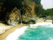 Big Sur Beach Originals - Big Sur Waterfall by Jerome Stumphauzer