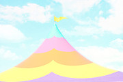 Pastel Colors Posters - Big Top in the Sky Poster by Amy Tyler