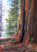 Sequoia Paintings - Big Tree by Nadi Spencer