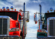 Transportation Posters - Big Trucks Poster by Bob Orsillo