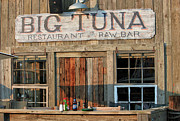 Fine Bottle Posters - Big Tuna Restaurant and Raw Bar Poster by Suzanne Gaff