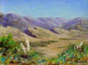 Alla Prima Posters - Big Valley plein air Poster by Mary Giacomini