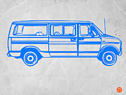 Vintage Car Drawings Posters - Big Van Poster by Irina  March