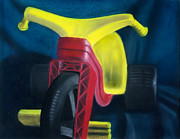 Toys Pastels - Big Wheel by Carlos De Las Heras