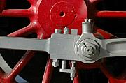 Steam Engine Photos - Big Wheel by Dan Holm