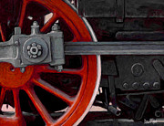 Train Digital Art Posters - Big Wheel Poster by David Kyte