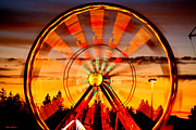 Ferris Wheels Posters - Big Wheels Poster by Cheryl Young